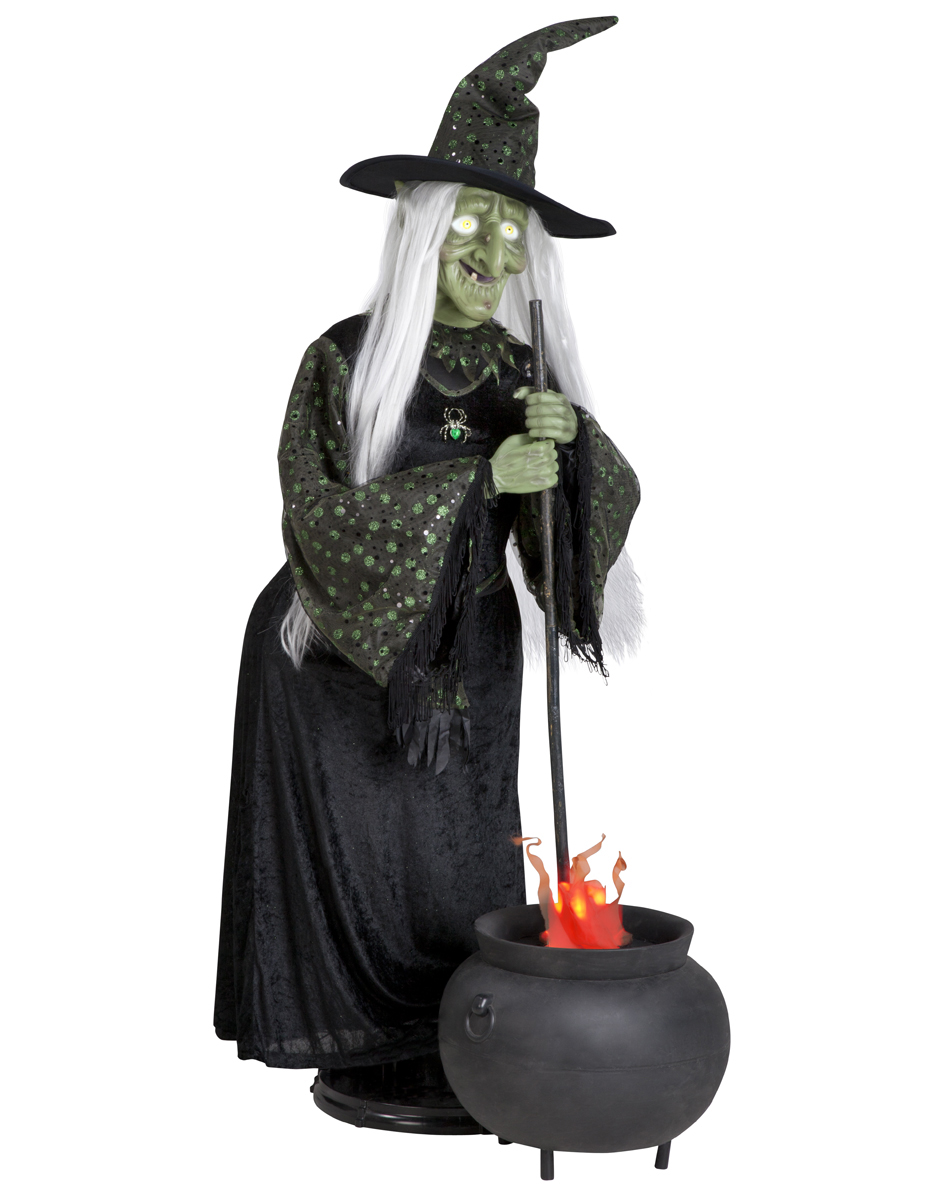 Life Size Witch with Flaming Cauldron G-63044 - The Gemmy ...