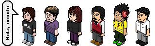 Representación miniaturizada de cada uno de los integrantes del equipo