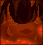 Background volcano