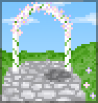 Background wedding arch
