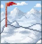 Background frigid peak