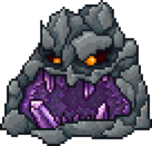 An angry, sentient rock.