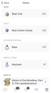 Items iOS