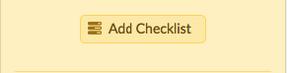Dailies Add Checklist Option