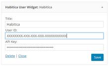 Wordpress Plugin Widget Settings