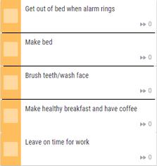 Example routine