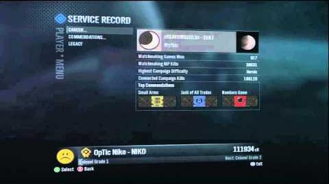 The Once Highest Ranking Person In Halo Reach Without Mods