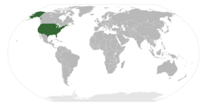 Location of the United States on Earth