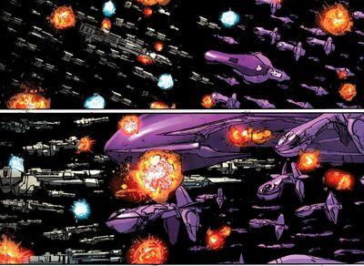 Space battle- Sigma Octanus IV