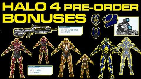 ALL Halo 4 Pre-Order Bonuses CIO Web, Deadeye, Hazop Forest, Raptor, Arctic BR, Pulse Skins