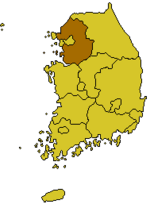 Location of Kyonggi