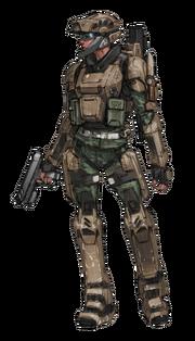 Caelan, Armoured