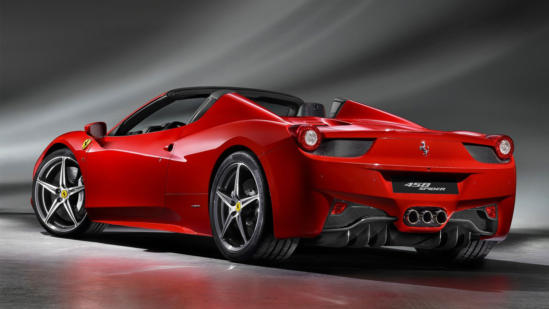 Image - RED-Ferrari-458-Spider-2013.jpg | Happy Tree ...  Ferrari 458 Spider Red