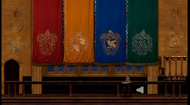 File:Banners of the Four Hogwarts Houses.JPG