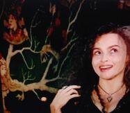 Helena Bonham Carter and the tree