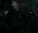 Unidentified Death Eater killed by Kingsley Shacklebolt