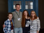Ellie and her family Chicago TARDIS 2014