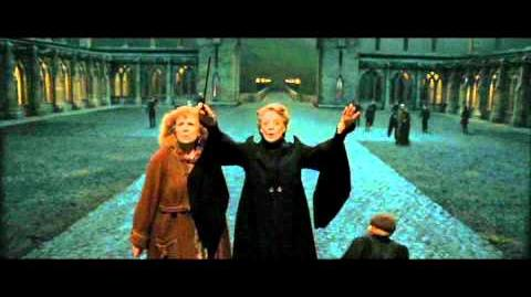Harry Potter and the Deathly Hallows part 2 - ''Boom'' and Piertotum Locomotor scene (HD)