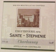 Cos d'Estourel 1974 Sainte-Stephenie Chardonnay