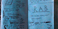 Harry Potter's notebook