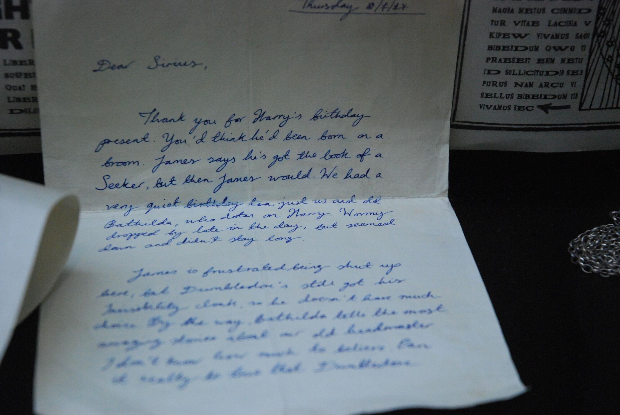 Lettre de Lily Evans à Sirius Black | Wiki Harry Potter