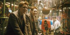 Fred and George at their WWW joke shop