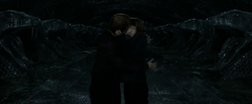 Ron and Hermione kiss