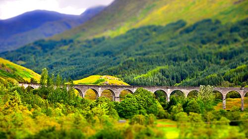 File:Glenfinnan Viaduct, tilt shift.jpg