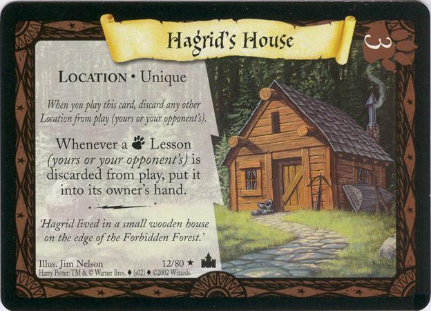 Hagrid 39 s house trading card harry potter wiki fandom What house was hagrid in