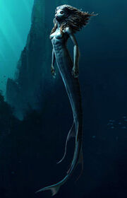 One of the Merpeople of Hogwarts Lake (Concept Artwork)