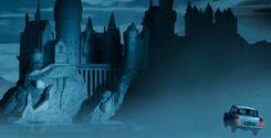 HogwartsCastle WB F2 HogwartsCastleAndFlyingFordAnglia Illust 100615 Land