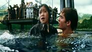 Cedric Diggory saving Cho Chang at Hogwarts Lake for the 2nd Task of the 1994 Triwizard Tournament