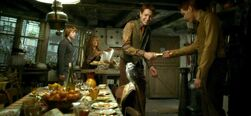 Fred and George pull a wizard cracker