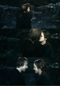 Ron and Hermione Kissing