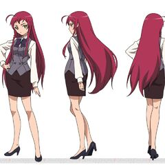 Character design for the Hataraku Mao-sama! anime