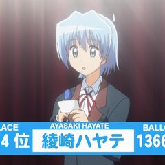 Hayate's Result of the 2nd popularity contest shown in the anime
