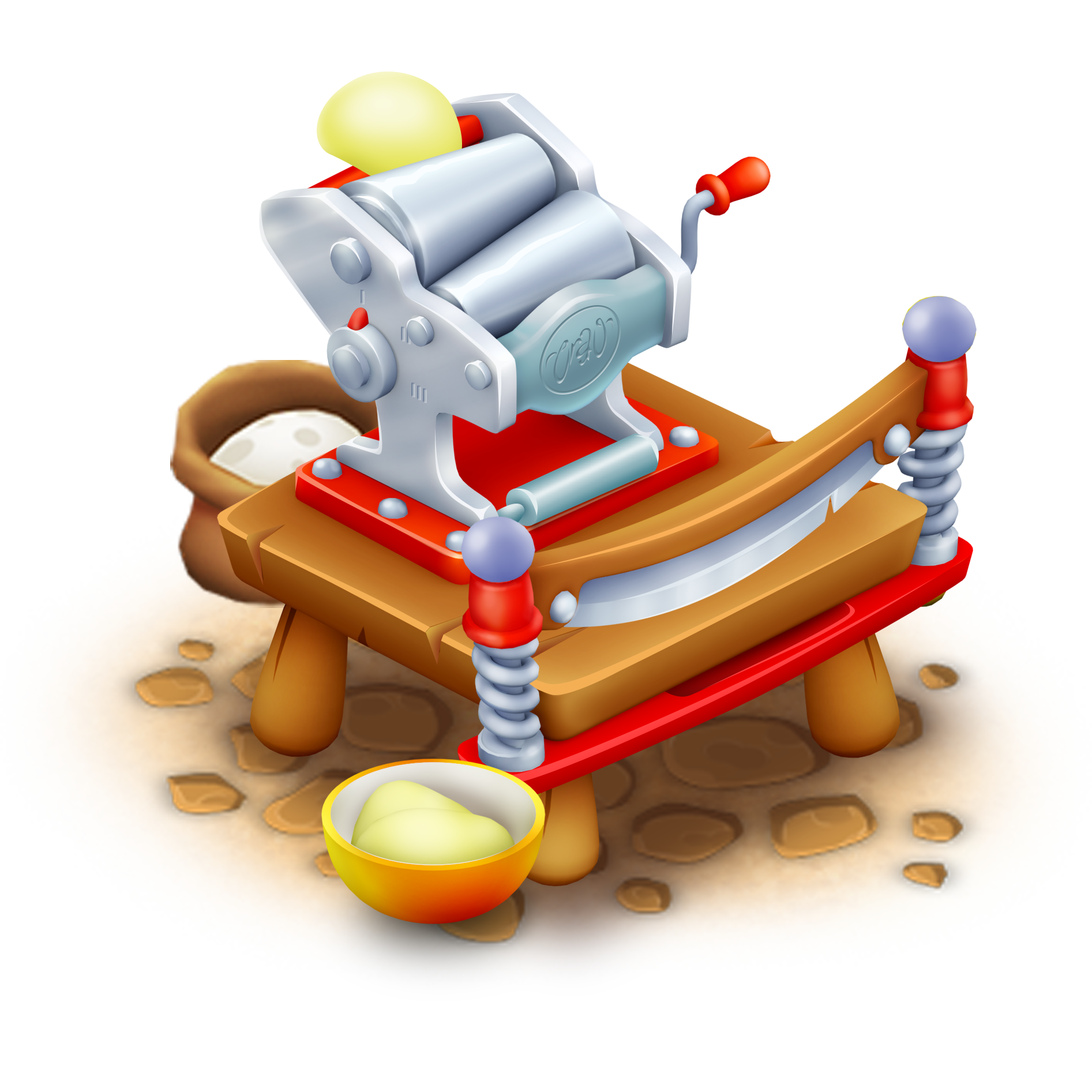 Pasta Making Machine Clip Art