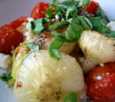 Roasted Tomatoes and Cipollini Onions