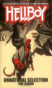 Hellboy - Unnatural Selection (Novel Cover)