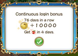 Login bonus day 76