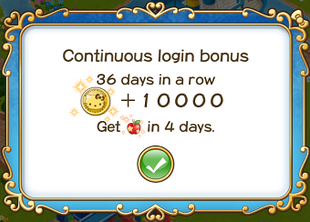 Login bonus day 36