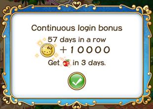 Login bonus day 57