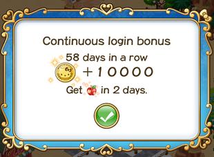 Login bonus day 58