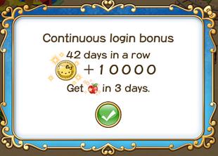 Login bonus day 42