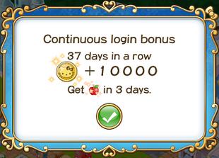 Login bonus day 37