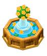 Fountainwithyellowflowers