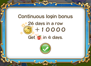 Login bonus day 26