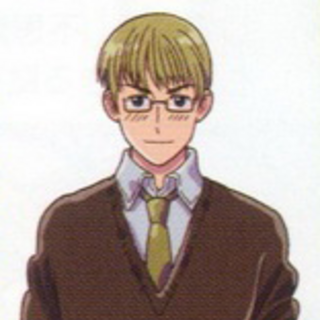 Estonia in his casual clothing in the anime.