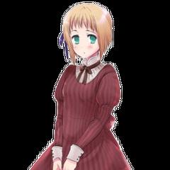 Liechtenstein in the striped version of her dress.