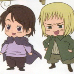 Baby Austria and Switzerland from the anime.